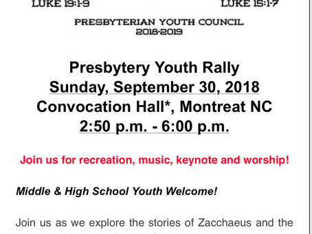 WNC Presbytery Rally Day- Are You Going?