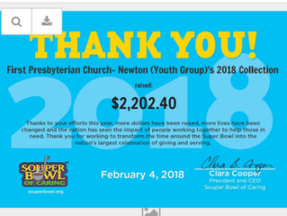 First Presbyterian Church Newton Middle & High School Youth- Souper Bowl of Caring