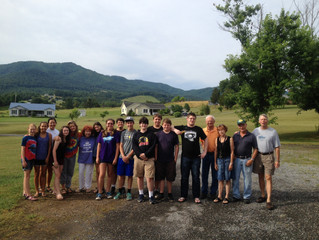 FPC Newton High School Youth Leave for Cedar Creek Mission Center on June 18th