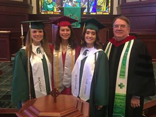 GRADUATION SUNDAY AT FIRST PRESBYTERIAN CHURCH- NEWTON