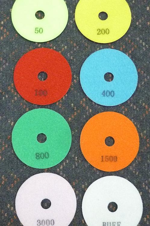 "4"" Diamond Flexible Wet Polishing Pads"