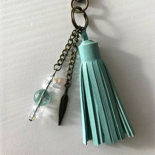 Boho Gemstone Keychain