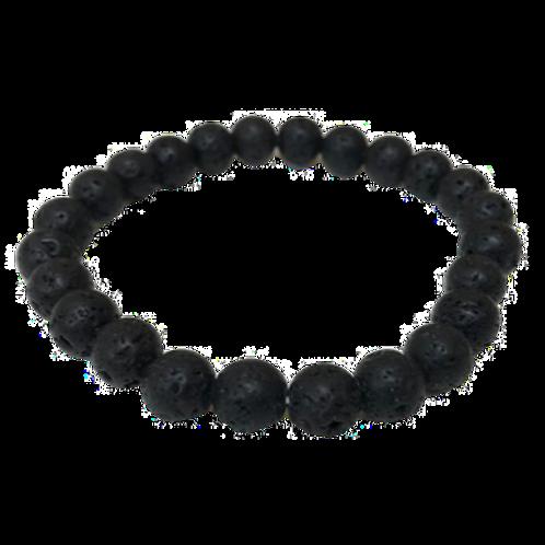 Lava Bead Bracelet - 8mm