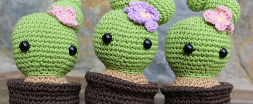 10 Free Crochet Cactus Patterns • Oombawka Design Crochet | 350x850