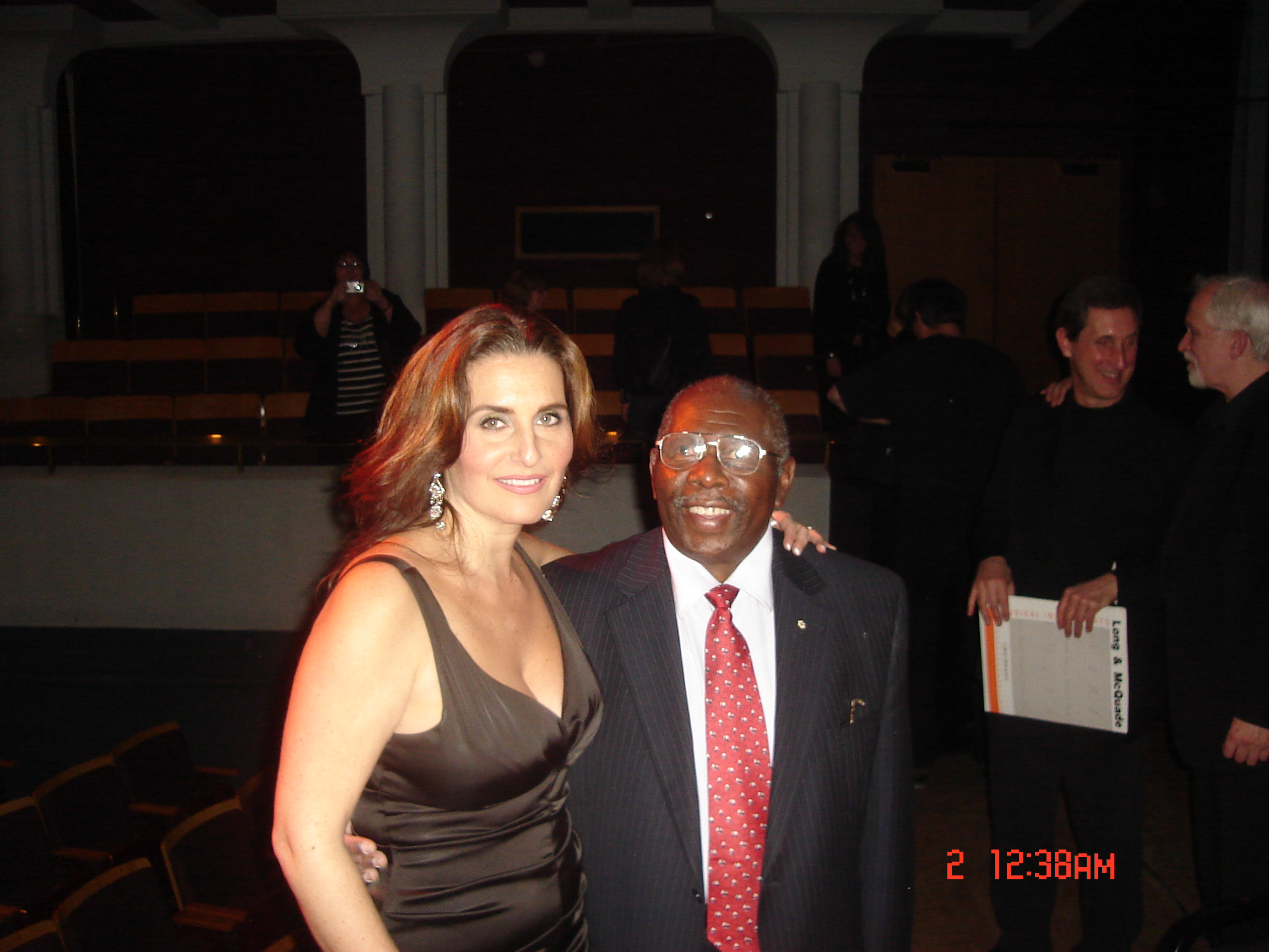 Shari with Oliver Jones