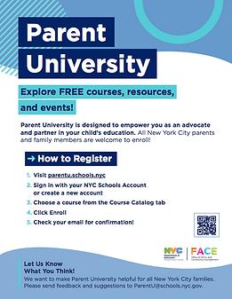 parent university flyer