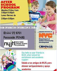 tennis and learning flyer