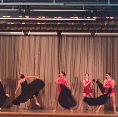 stage show with dancers