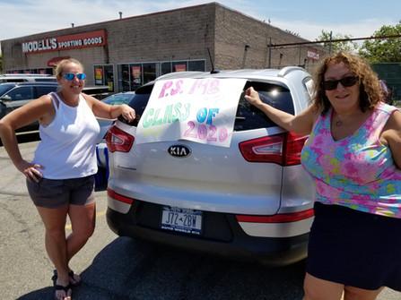 Car Parade with teachers