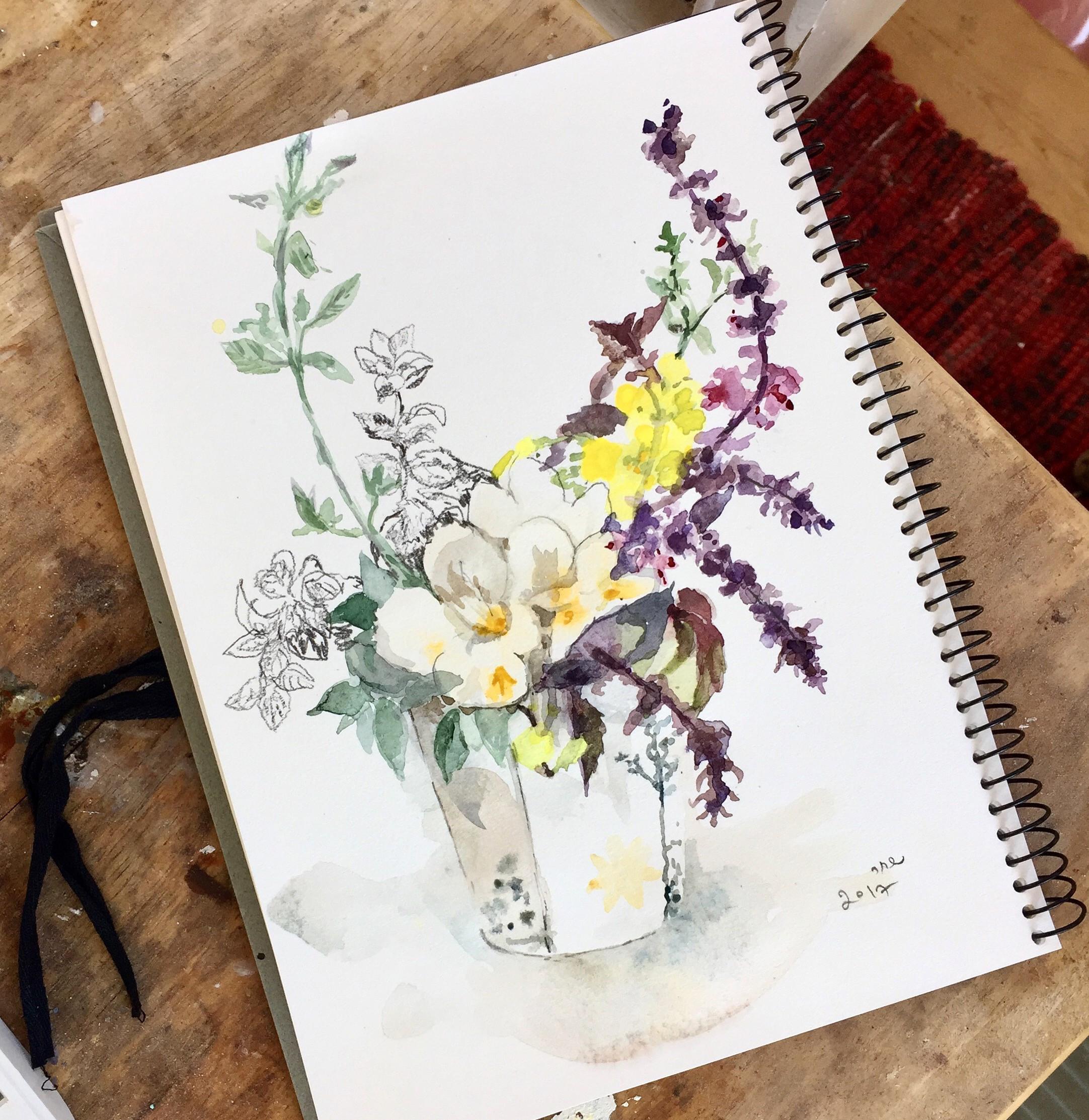 שיעור פרטי בציור בוטני