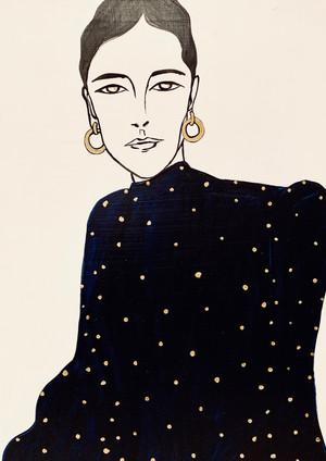 Lady Blue Velvet