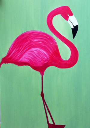 Flamingo left