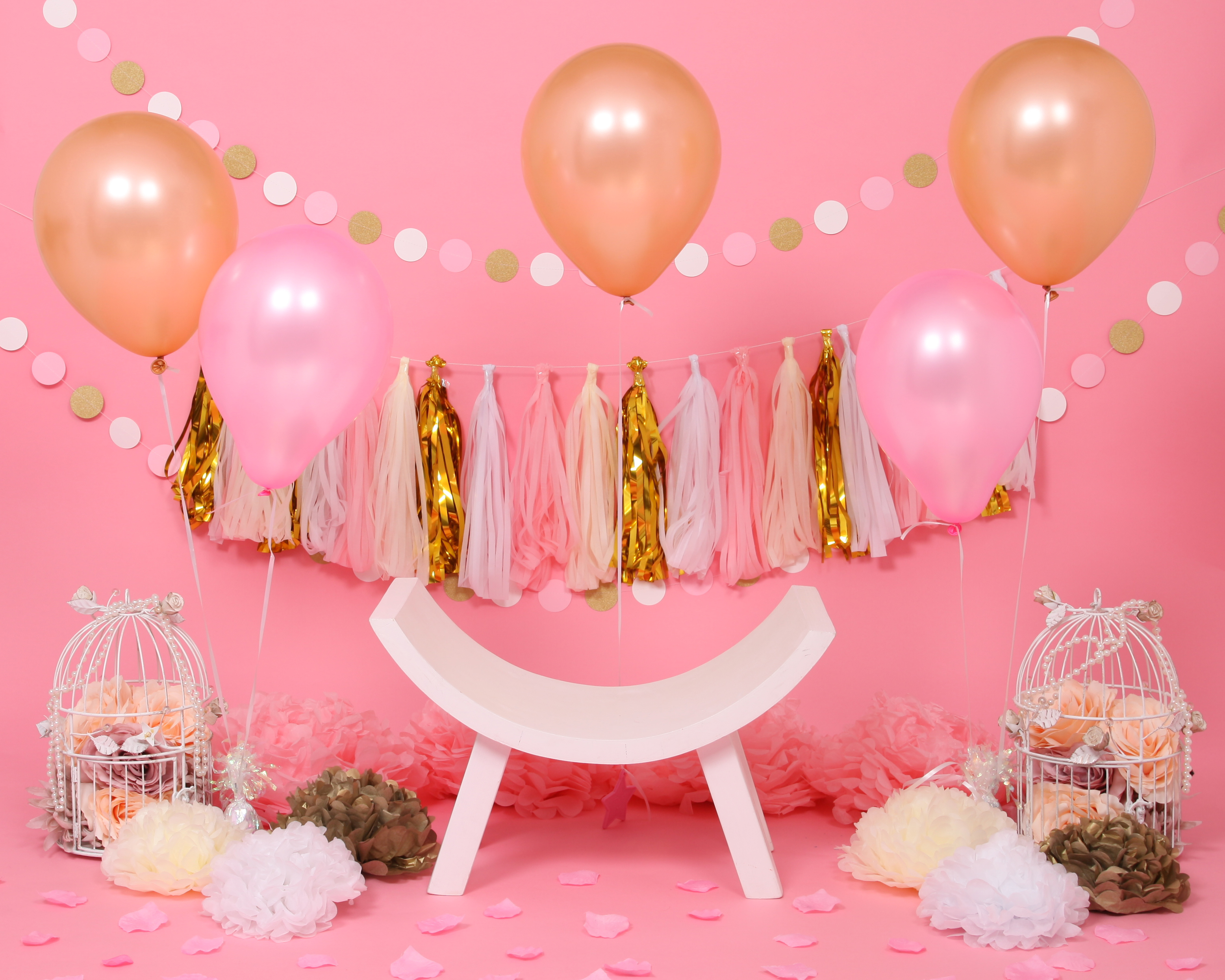Pink and Gold Cake Smash