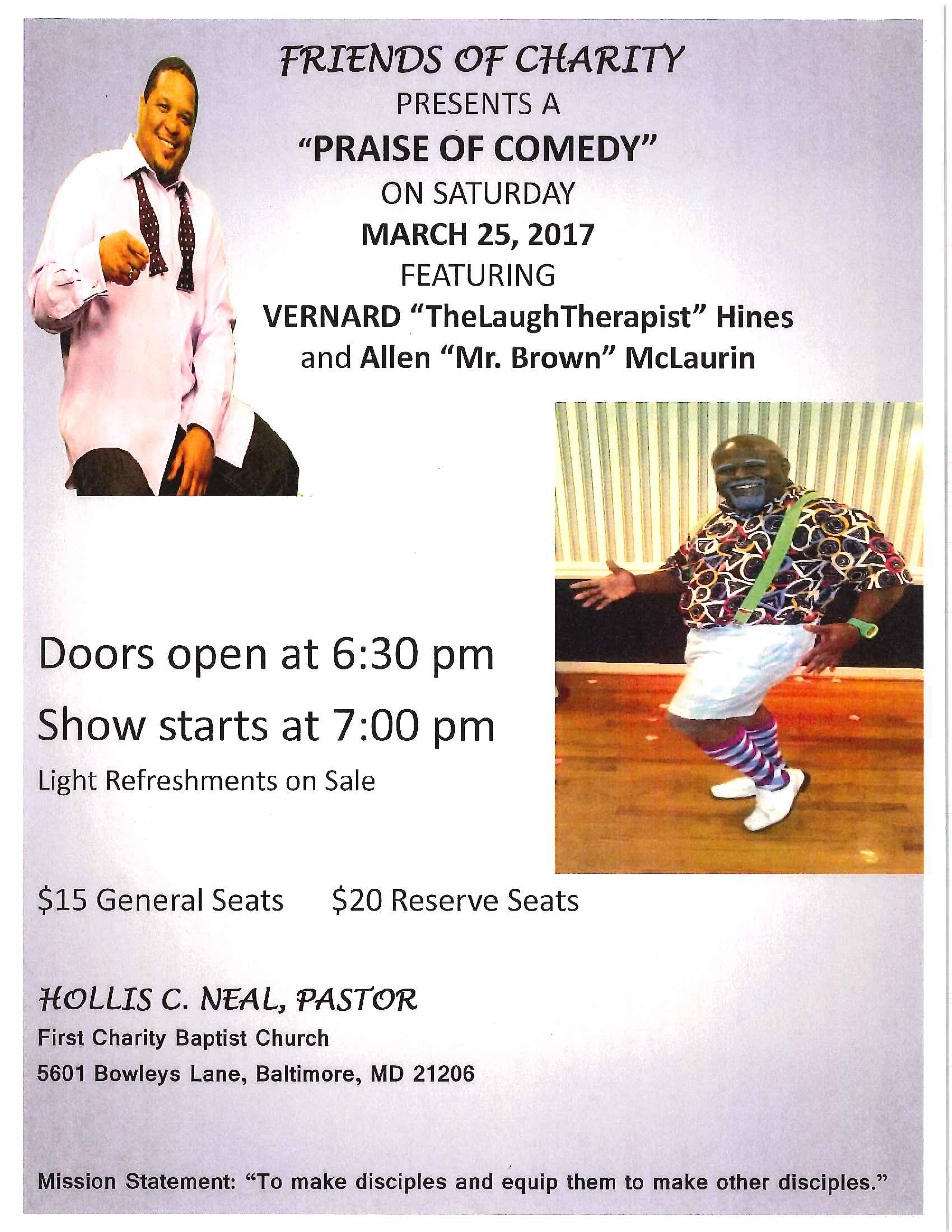 Praise of Comedy Flyer 3.25.17