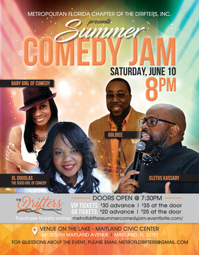 Summer Comedy Jam Flyer_GL Cletus