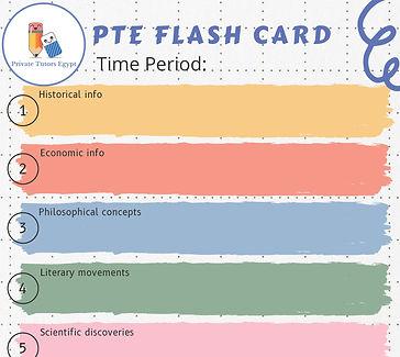 Humanities Template Flash Card