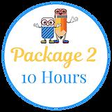 Tutoring Package 2 = 10 hours