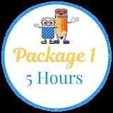 Tutoring Package 1 = 5 hours