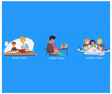 Home Tutor, Online Tutor & Activity Clubs available for all students of all ages!