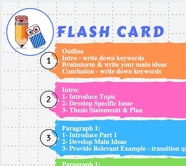 Essay Writing Flash Card