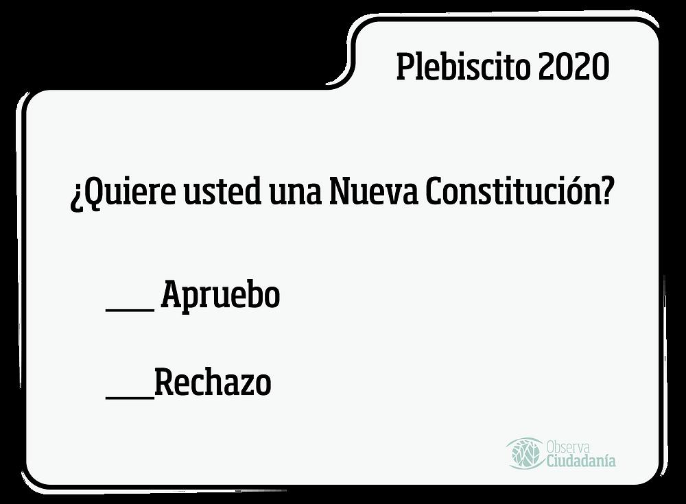 voto formación ciudadana plebiscito 2020 chile