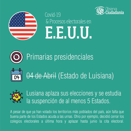 Covid-19 y procesos electorales: Estados Unidos