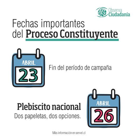Cronograma del proceso constituyente parte 3