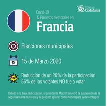 Covid-19 y procesos electorales: Francia