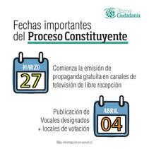 Cronograma del proceso constituyente parte 2