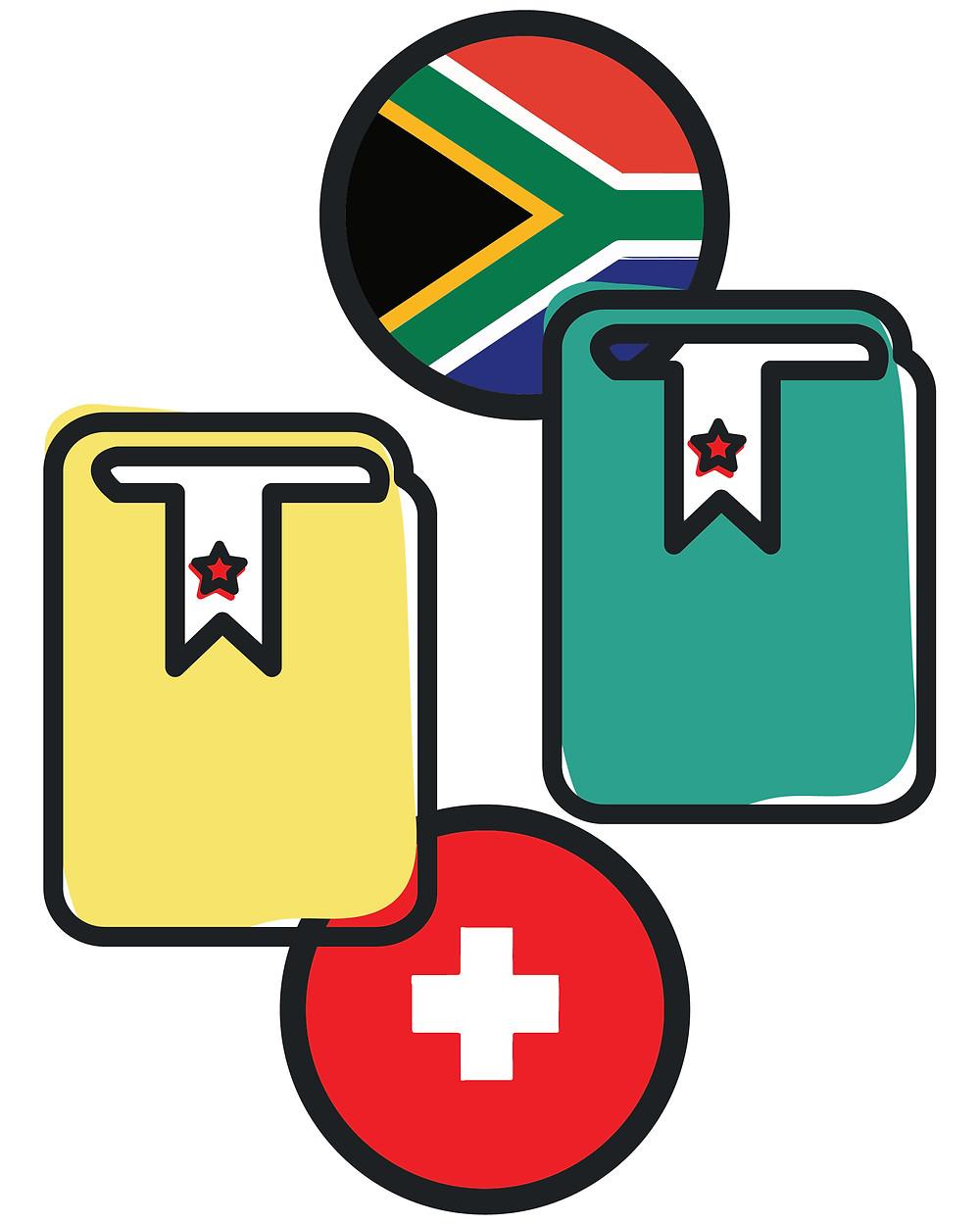 Formación ciudadana Constitución Sudáfrica Suiza
