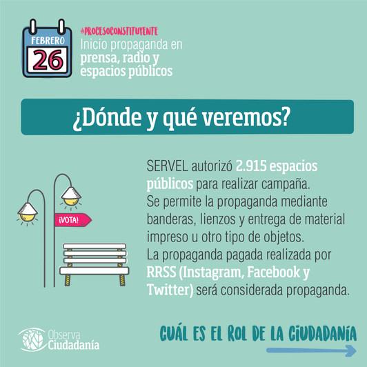 La propaganda electoral del #procesoconstituyente en Chile