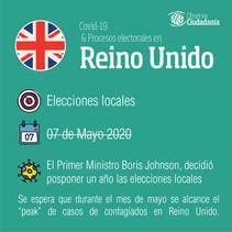 Covid-19 y procesos electorales: Reino Unido