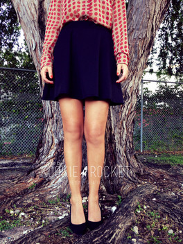 The SKATER skirt for HIPS quite flattering! La falda perfecta para la caderona!