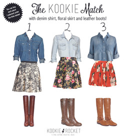 DENIM + FLORAL SKIRT = CHIC & CASUAL!