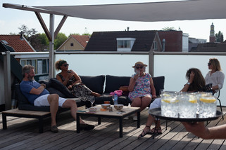 roof terrace family time