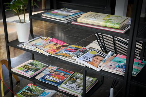 mooie bladen tijdschriften bij Valerius Boutique Hotel