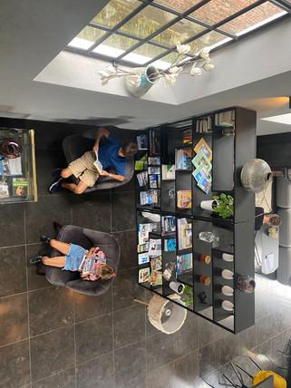mini library at Valerius Boutique Hotel