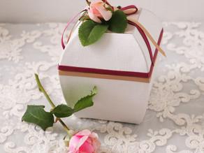 バラのつぼみの箱