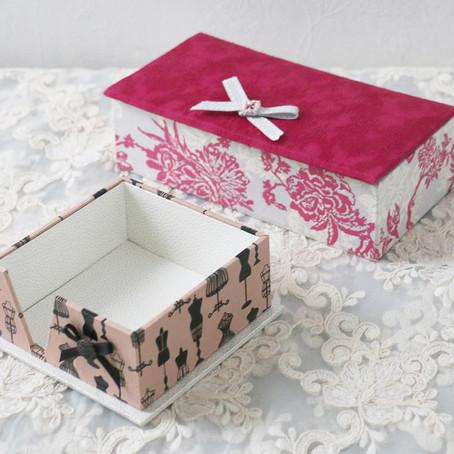 生徒様作品 シャルニエの箱とメモケース