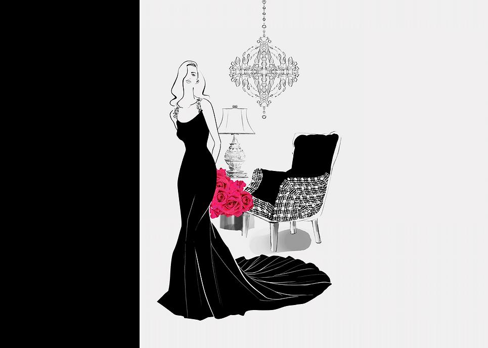 薔薇の花束と女性-1背景change5.png
