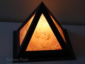 カルトナージュで作るランプ