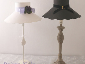 帽子のランプシェードを衣替え