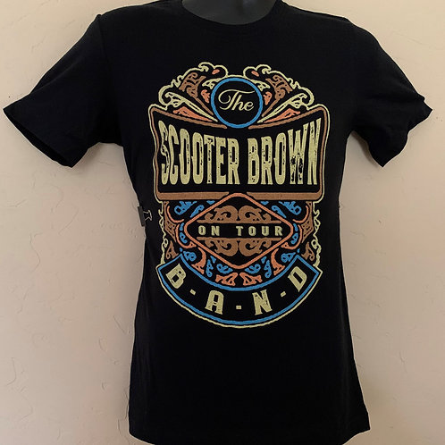 Scooter Brown Band Label Logo Tee