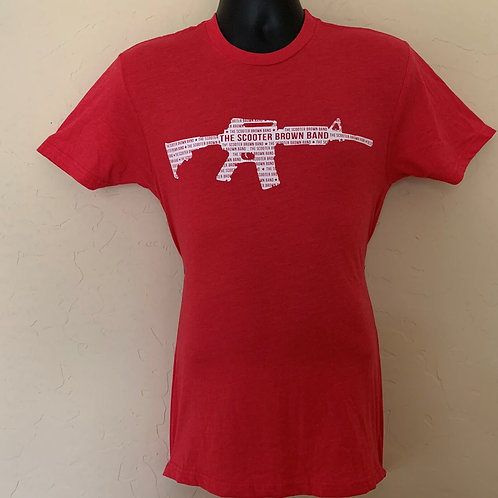 Scooter Brown Band AR Tee - Red