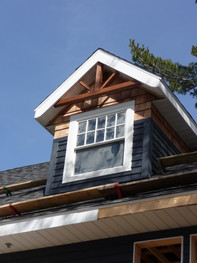 Gable with beam work