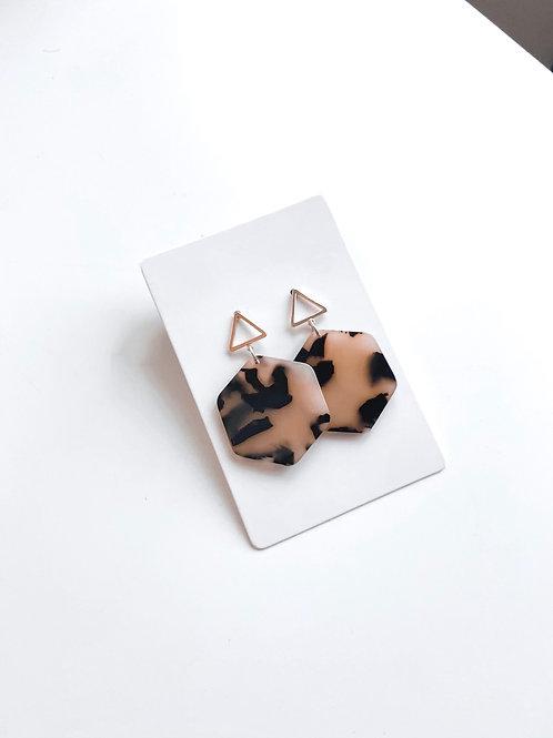 Hexy Tortoise Earrings