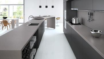 Кухонная столешница из кварца Caesarstone 4033 Sleek Concrette