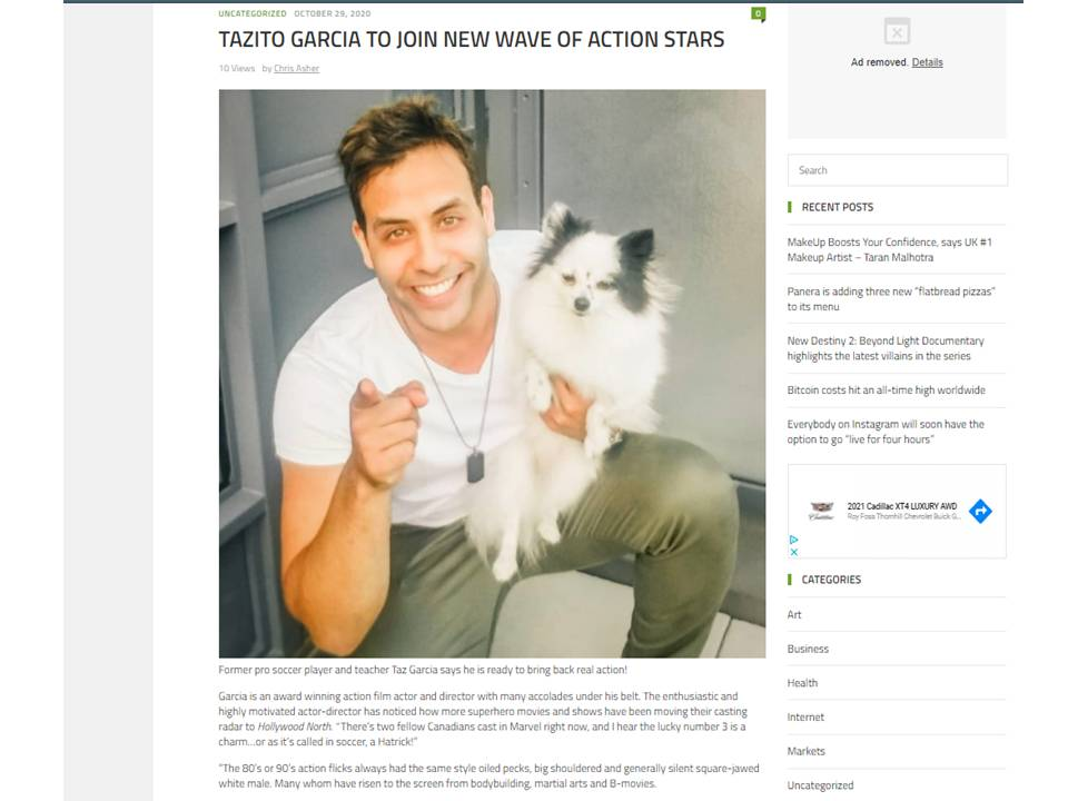 Actor | Tazito Garcia | Canada Top 10 actors,peoples champ #tazitogarcia #tazgarcia #tazito