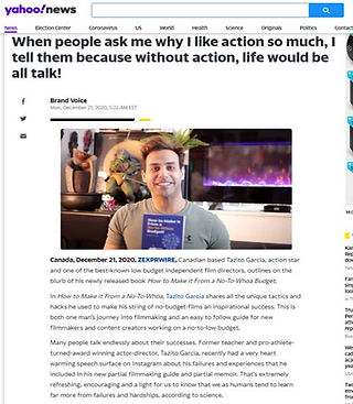 Actor | Director | Author Tazito Garcia on yahoo news releasing new book