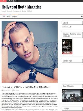 Hollywood North Magazine Taz Garcia